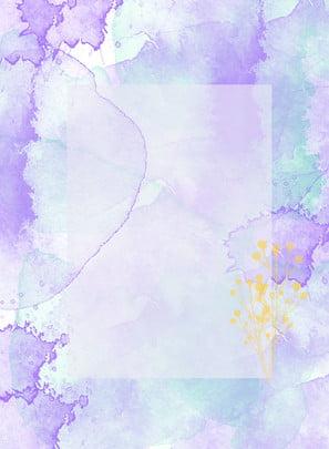 जल रंग बैंगनी ऑर्किड सफेद छप स्याही बॉक्स पृष्ठभूमि सामग्री , बैंगनी ऑर्किड छप, बॉक्स पृष्ठभूमि सामग्री, फूल पृष्ठभूमि छवि