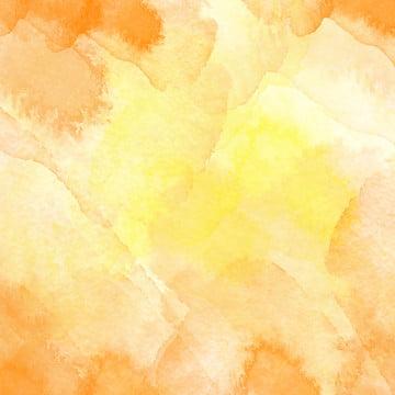 水彩夕焼け色黄色マスターイラスト背景 , 単純な, 水彩の夕日を背景, 無地の背景 背景画像