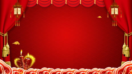 wedding celebration festive chinese style stage background design, Festive, Red, Chinese Style Background image