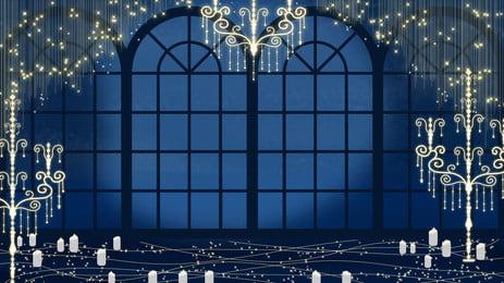 白い月光のロマンチックな結婚式のシーン 美しい背景 ファンタジーの背景 結婚式の背景 シーンの背景 軽い ろうそく 白い月光のロマンチックな結婚式のシーン 美しい背景 ファンタジーの背景 背景画像