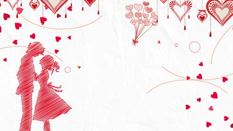 white romantic cozy couple panel background, One Arrow, Creative, Valentines Day Background Background image