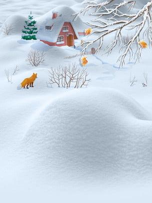Solstice Background Snow Hình Nền