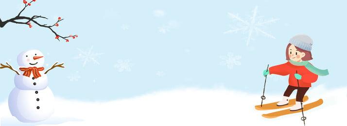 gambar gadis ski musim sejuk, Melawan Bola Salji, Musim Sejuk, Snowflake imej latar belakang