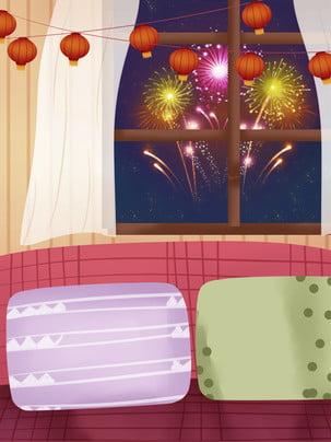 冬の新年の暖かい家の背景 , 暖かい家の背景, 冬, お正月 背景画像