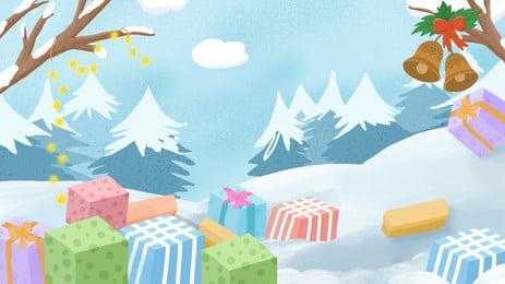 शीतकालीन बर्फीली जंगल चित्रण पृष्ठभूमि, चित्रण पृष्ठभूमि, हाथ से चित्रित पृष्ठभूमि, सुंदर पृष्ठभूमि पृष्ठभूमि छवि