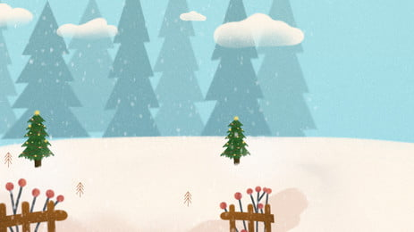 winter solstice cartoon background cute, Kartun, Comel, Terma Solar imej latar belakang