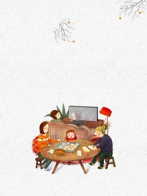 Winter solstice cartoon festival bánh bao quảng cáo Phim Hoạt Hình Hình Nền