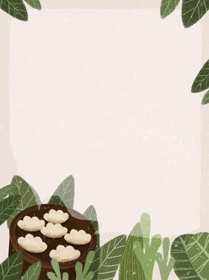 Winter solstice bánh bao vẽ tay minh họa nền Đông Chí Bánh Hình Nền