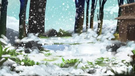 शीतकालीन जंगल बर्फीली पृष्ठभूमि, सुंदर पृष्ठभूमि, चित्रण पृष्ठभूमि, सर्दियों की पृष्ठभूमि पृष्ठभूमि छवि
