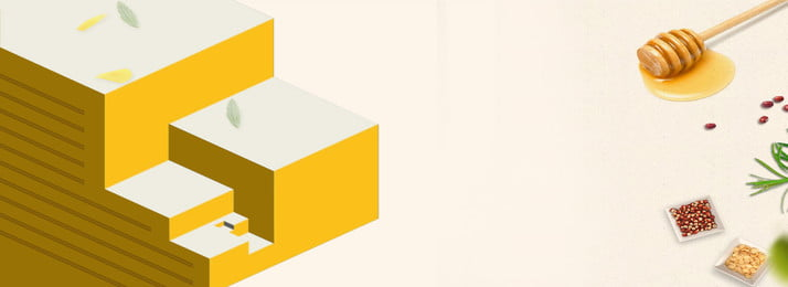 黄色の幾何学的図形蜂蜜バナーの背景, はちみつ, 幾何学模様, バナーの背景 背景画像