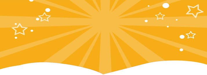 yellow radial rays stars banner background, Yellow, Radial Light, Hand Painted Background image