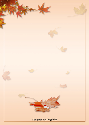Background of Maple Leaf Border Design in Autumn , Promotion, Business Affairs, Maple Leaves Background image