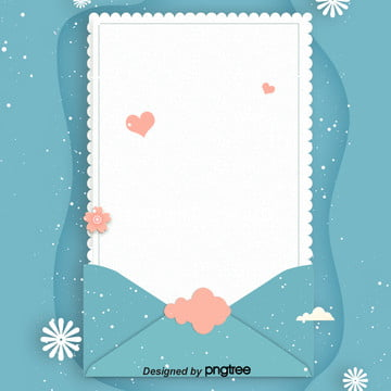 नीले ताजा प्रेम पत्र origami शैली पोस्टर , लिफाफा, Origami, आकर्षक पृष्ठभूमि छवि