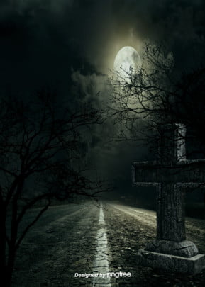 dark forest tomb cross moon night gothic background , Cross, Gothic, Grave Background image