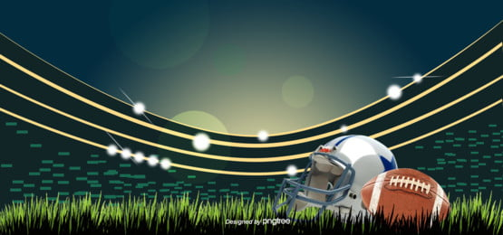 green hand painted lighting stadium super bowl rugby stadium background , Facula, Field, Hand Painted Background image