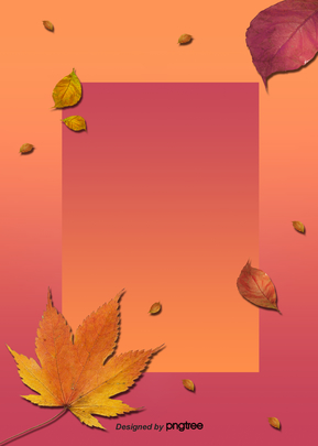 Maple Leaf Border Background in Autumn , Promotion, Business Affairs, Maple Leaves Background image