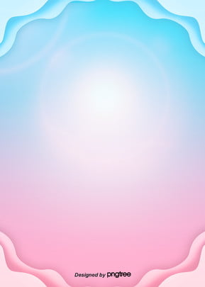 pink and blue gradient paper cut stereo background , Light, Paper-cut, Origami Background image