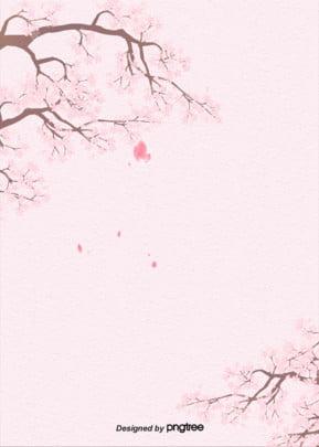 ピンクの古朴な紙の桜の日本式の背景 , アニメ, イラスト, 日本式 背景画像