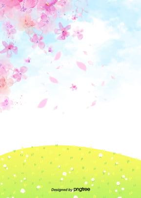 Màu hồng tươi mát rất đơn giản Tết Trung Quốc nền hoa anh đào trên bầu trời Sáng Tạo Trên Hình Nền