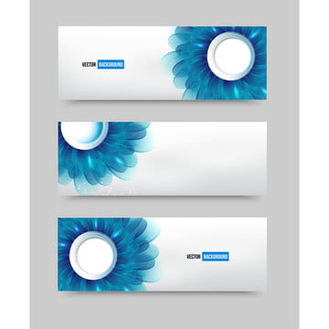 वेक्टर चित्रण नीले फूल के साथ बैनर , सार, कला, पृष्ठभूमि पृष्ठभूमि छवि