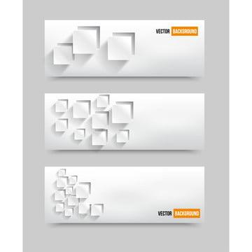 वेक्टर सफेद सार बैनर के साथ 3 डी वर्गों , 3 डी, सार, कला पृष्ठभूमि छवि