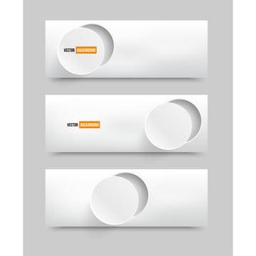 các vector biểu ngữ trừu tượng tròn cắt giấy trắng , Ba Chiều, Abstract, Nghệ Thuật. Ảnh nền