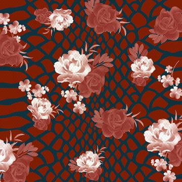 Floral Background Design, Flower, Blooming, Pink, Background image