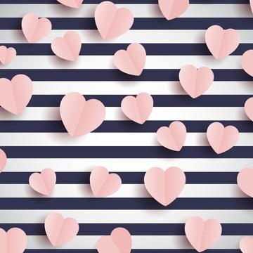 hati merah jambu di belang latar belakang , Abstrak, Latar Belakang, Hiasan imej latar belakang