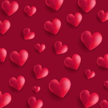 वेलेंटाइन s दिन पृष्ठभूमि के साथ 3 डी शैली दिल , 3 डी, सार, पृष्ठभूमि पृष्ठभूमि छवि