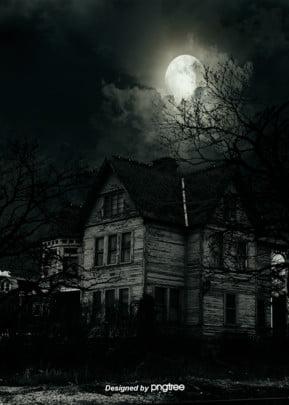 dark forest house moon night gothic background , Cloud, Gothic, Night Background image