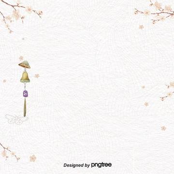 日本浪漫櫻花風鈴清新背景 , 日本, 櫻花, 浪漫 背景圖片