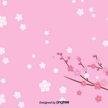 清新櫻花背景 , 日式, 枝頭, 樹枝 背景圖片