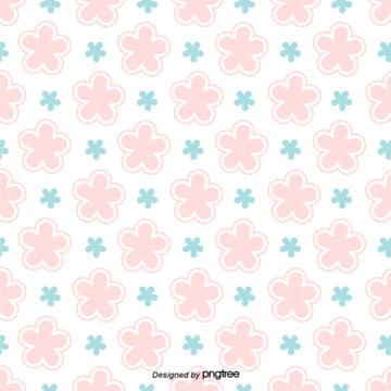 簡約日式小清新櫻花組合背景 , 可愛, 圖案, 小清新 背景圖片