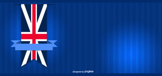 नीले हाथ से तैयार की शैली के मंच से ब्रिटिश झंडा पृष्ठभूमि , व्यापार, झंडा, हाथ चित्रित पृष्ठभूमि छवि