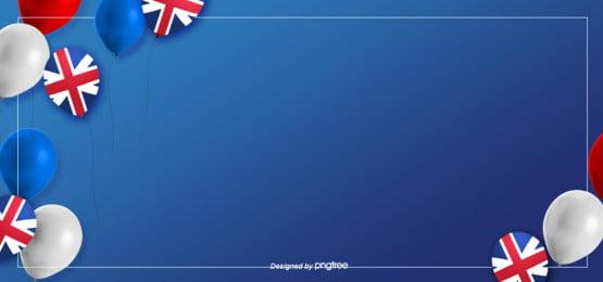 नीले रंग की सरल शैली के गुब्बारे अति सुंदर ब्रिटिश झंडा पृष्ठभूमि , व्यापार, की तरह, झंडा पृष्ठभूमि छवि
