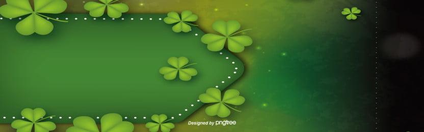 Green Hat Festival Clover Business Background, Promotion, Business, Clover, Background image