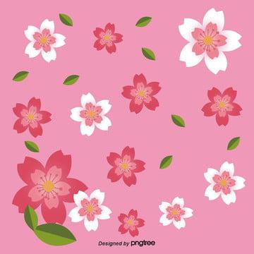 핑크 체리 배경 , 요소, 소녀, 일본 배경 이미지