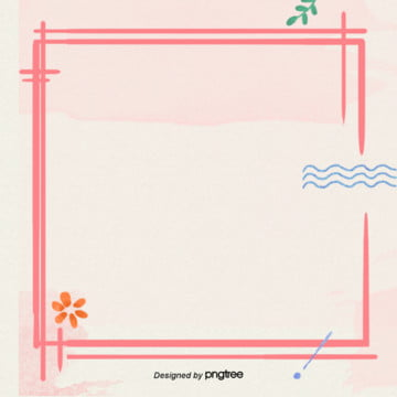 粉色手繪水彩和風唯美邊框背景 , 和風, 唯美, 手繪 背景圖片