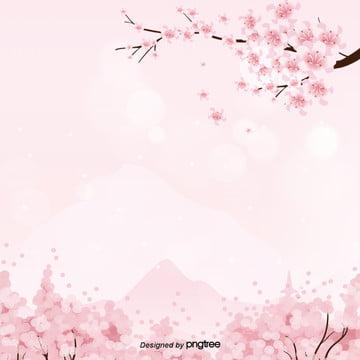 ピンクの簡単な文芸ロマンチックな桜の舞う暗い紋様のポスターのパネルの背景 , 文芸, 桜の花, ロマンチック 背景画像