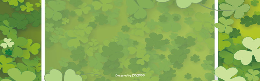 the decorative background of green hat festival in simple clover festival , Business, Commercial Promotion, Clover Background image