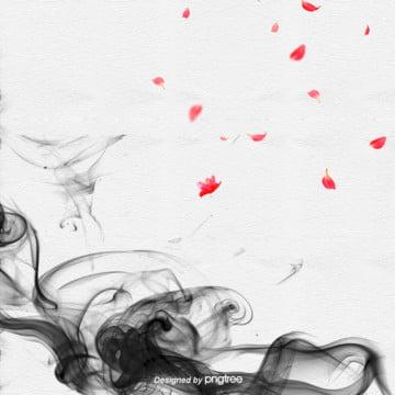 中国風水墨の抽象的な花びらの背景 , 中国風, 抽象的, 水墨 背景画像