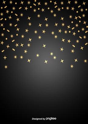 黒のグラデーションゴールドの星の背景 , 発光する, ビジネス, 星 背景画像