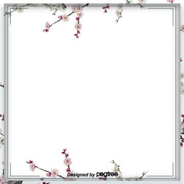 日式和風清新藍色櫻花淘寶電商背景 , 日式, 日式和風, 日本 背景圖片