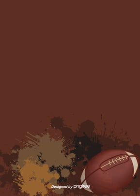 Background Of American Football With Brown Ink-splashing Style, Vintage, Brown, Rugby, Background image