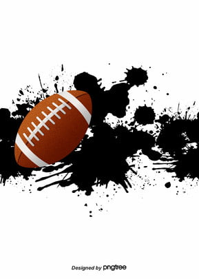 Background Of Black Splash American Football, Nostalgia, Brown, Rugby, Background image
