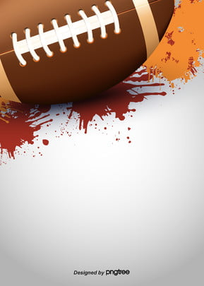 Background Of Stereo American Football Ink-splashing Style, Nostalgia, Brown, Rugby, Background image