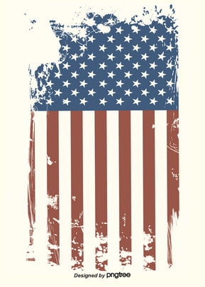 background of american flag on retro style paper