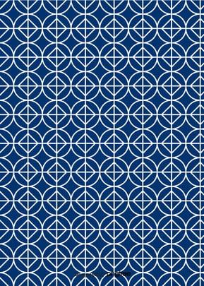 青い幾何学の図形の和文の図案の壁紙 , 幾何学, 図案, 壁紙 背景画像