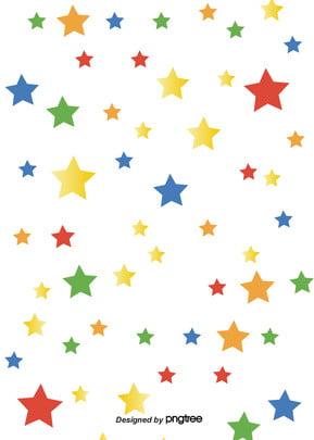 カラーカートゥーン星の背景 , 色をつける, 光の光, カラー 背景画像