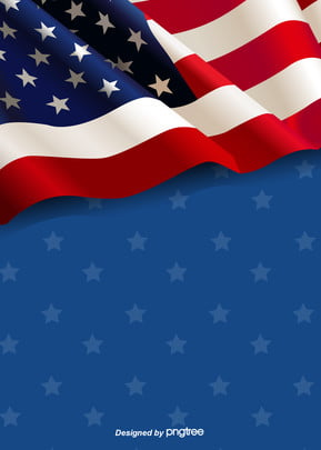 the background of the american flag flying with blue stars , Creative, Flag Background, Stars Background image